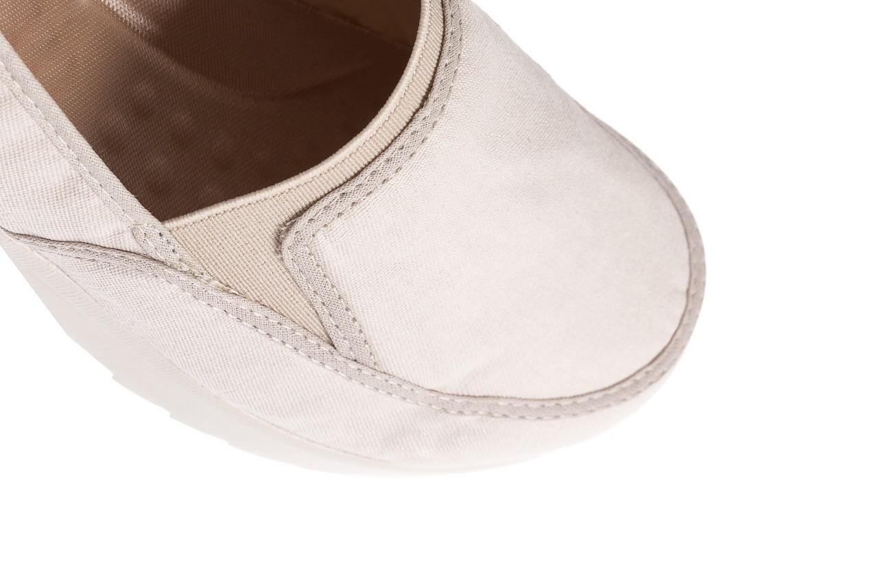Półbuty azaleia 630 187 ivory, kremowy, materiał  - obuwie sportowe - dla niej - dodatkowe -10% 12