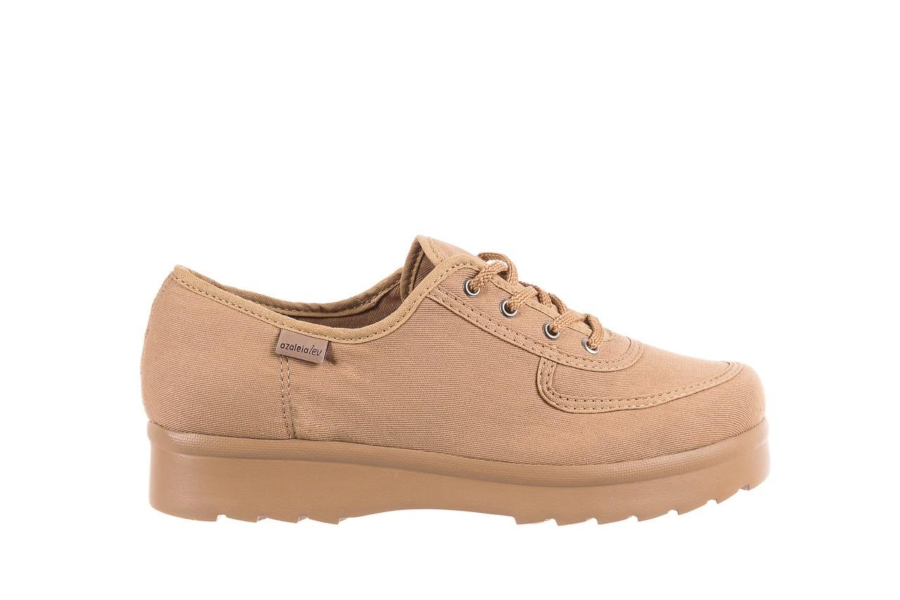 Półbuty azaleia 630 189 beige, beż, materiał  - sznurowane - półbuty - buty damskie - kobieta 7