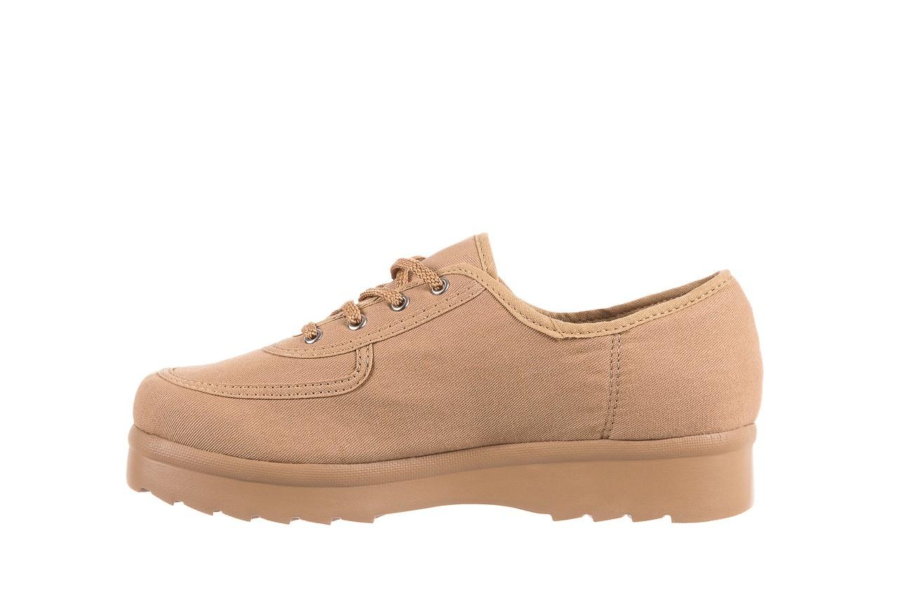 Półbuty azaleia 630 189 beige, beż, materiał  - sznurowane - półbuty - buty damskie - kobieta 9