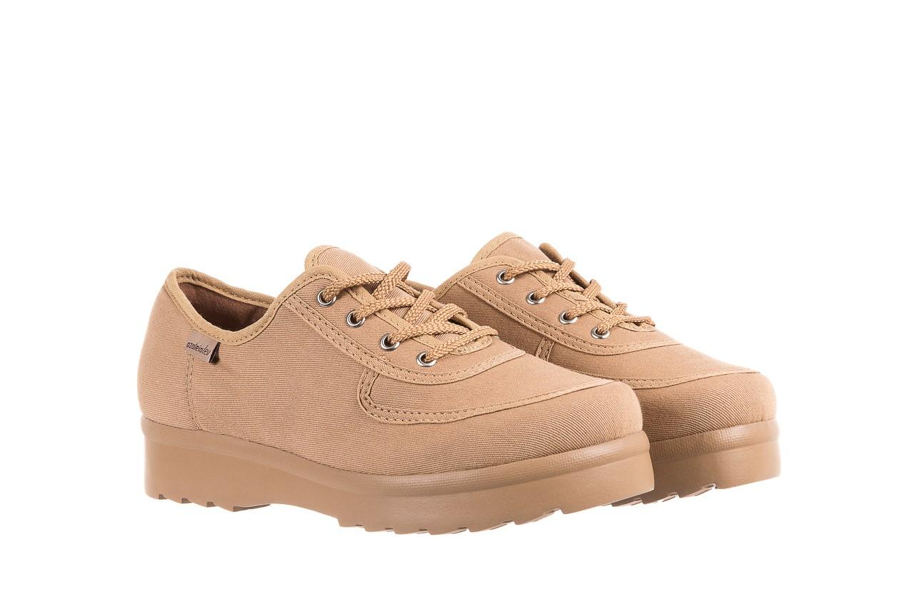Półbuty azaleia 630 189 beige, beż, materiał  - sznurowane - półbuty - buty damskie - kobieta 8