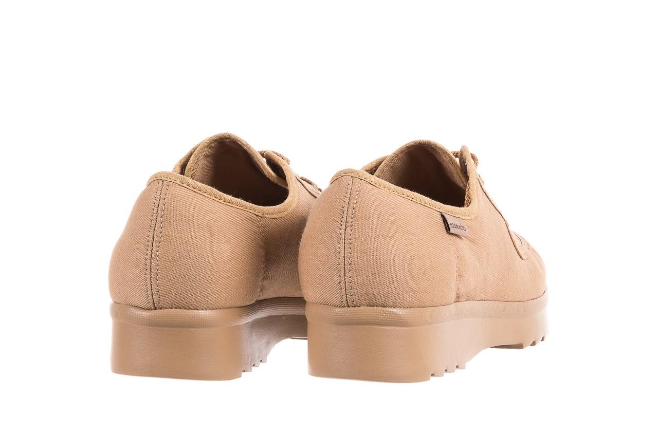 Półbuty azaleia 630 189 beige, beż, materiał  - sznurowane - półbuty - buty damskie - kobieta 10
