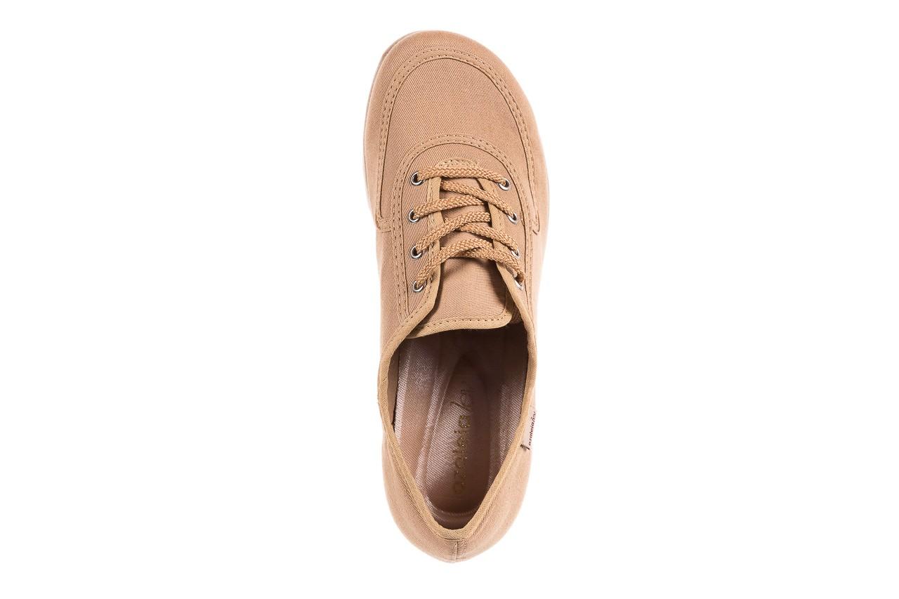 Półbuty azaleia 630 189 beige, beż, materiał  - sznurowane - półbuty - buty damskie - kobieta 13