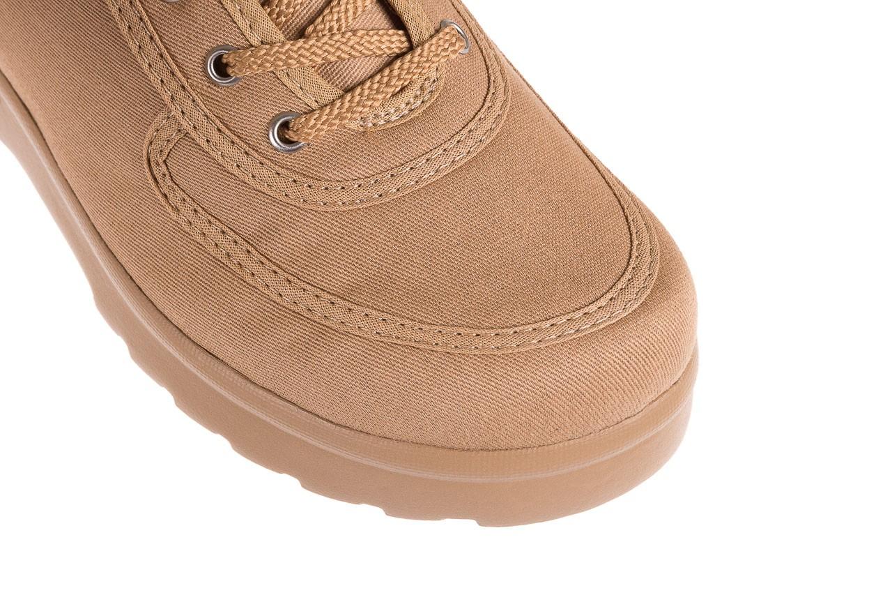 Półbuty azaleia 630 189 beige, beż, materiał  - sznurowane - półbuty - buty damskie - kobieta 12