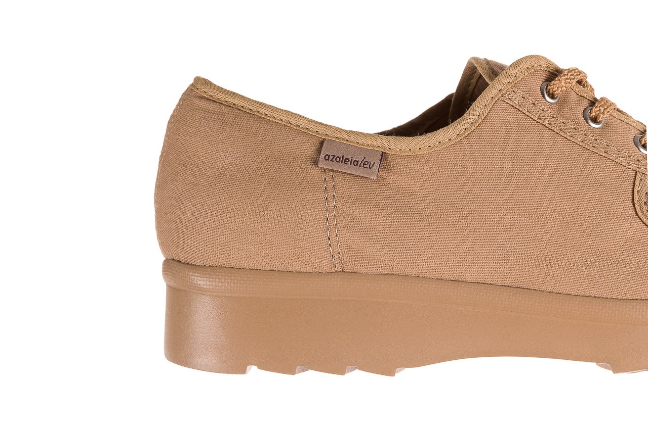 Półbuty azaleia 630 189 beige, beż, materiał  - sznurowane - półbuty - buty damskie - kobieta 11