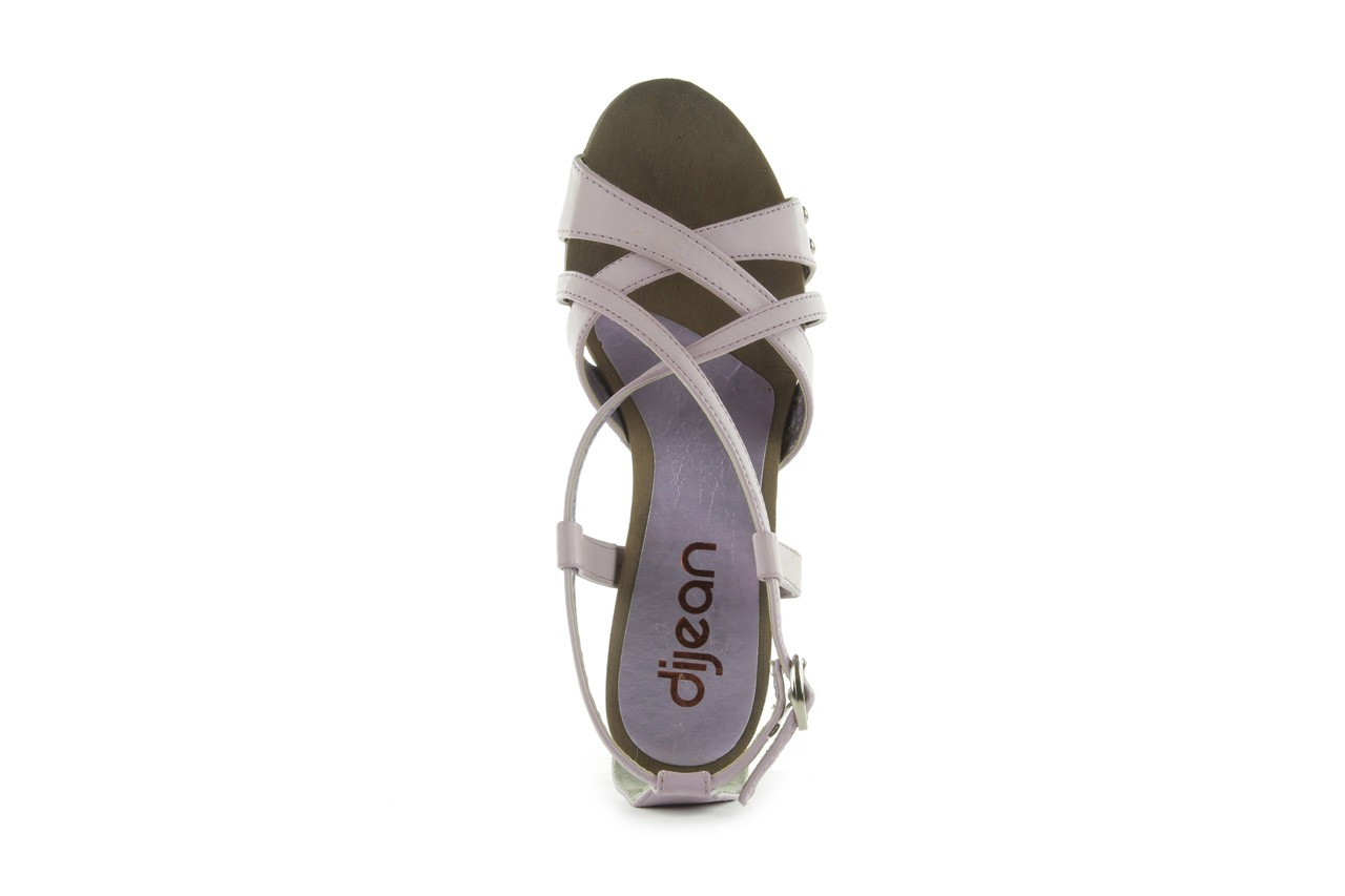 Sandały azaleia 633-love630 lilac, fiolet, skóra ekologiczna - dijean - nasze marki 11