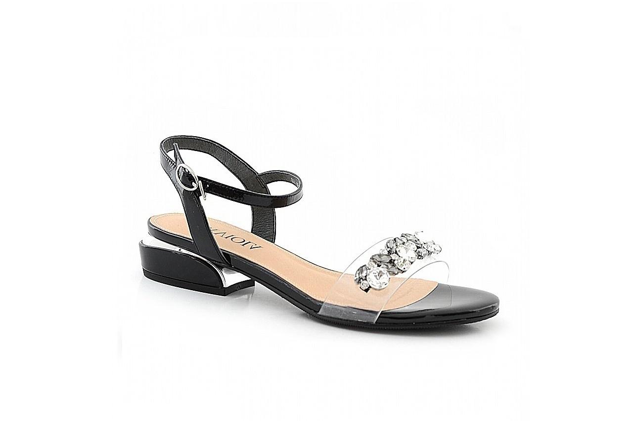 Sandały sca'viola b-123 black, czarny, skóra naturalna lakierowana/ silikon - sca`viola - nasze marki 2