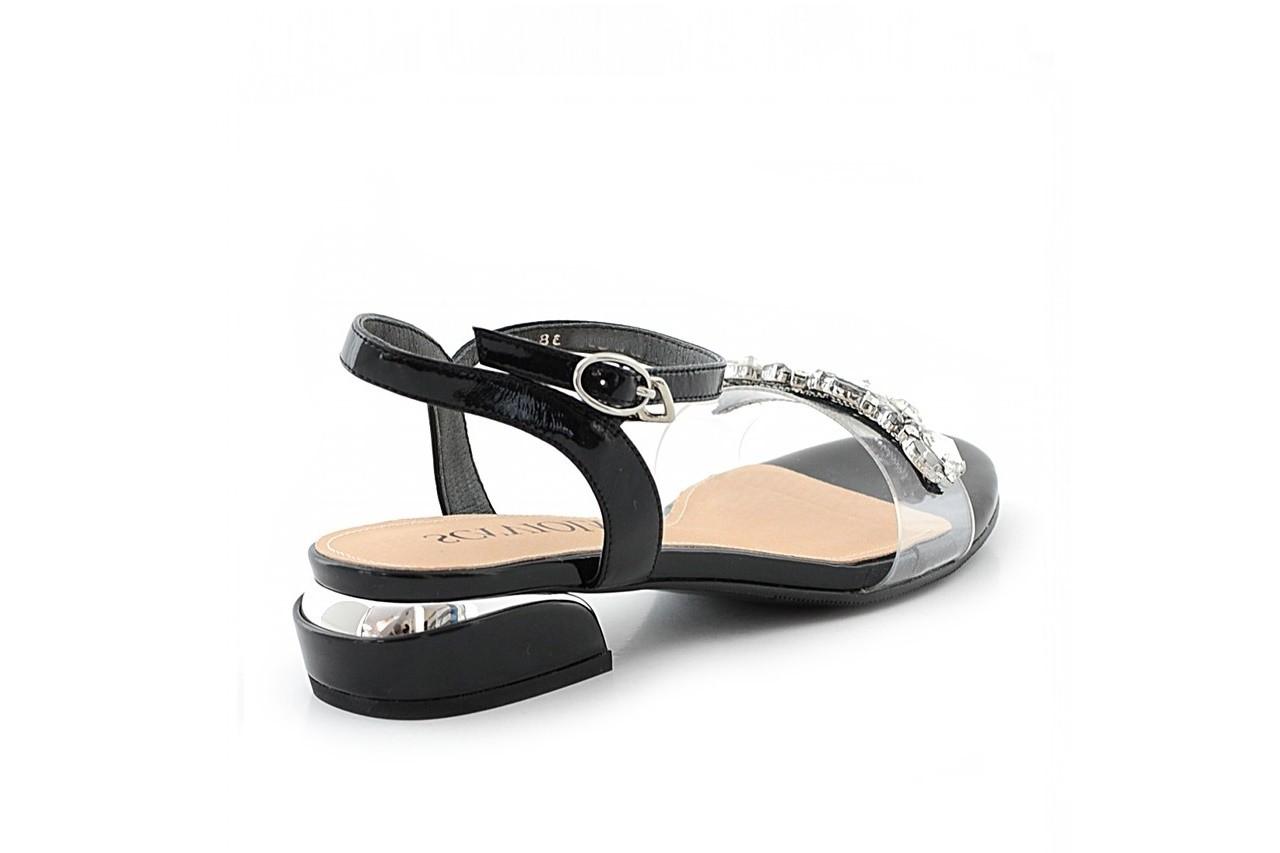 Sandały sca'viola b-123 black, czarny, skóra naturalna lakierowana/ silikon - sca`viola - nasze marki 3