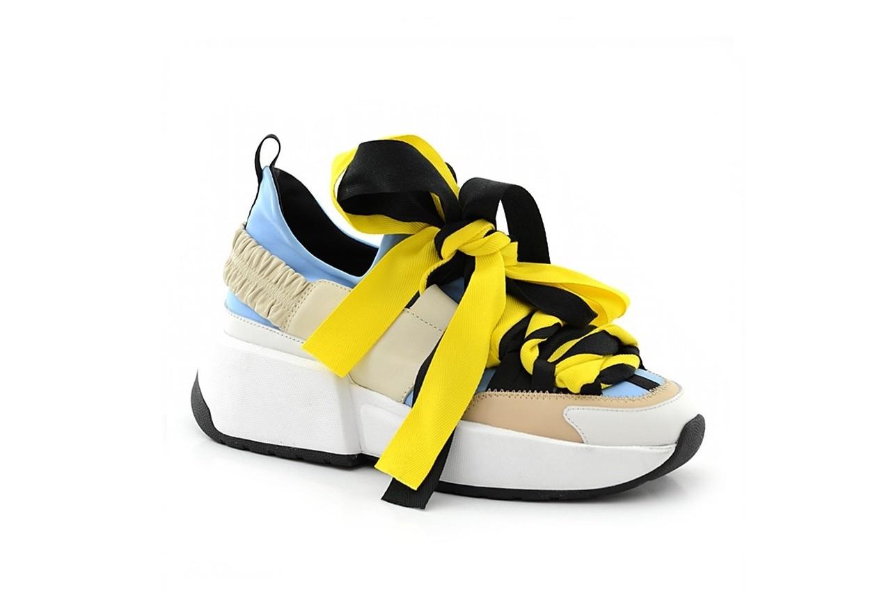Sneakersy sca'viola e-17 l-blue, niebieski/ beż/ czarny, skóra naturalna  - sca`viola - nasze marki 2