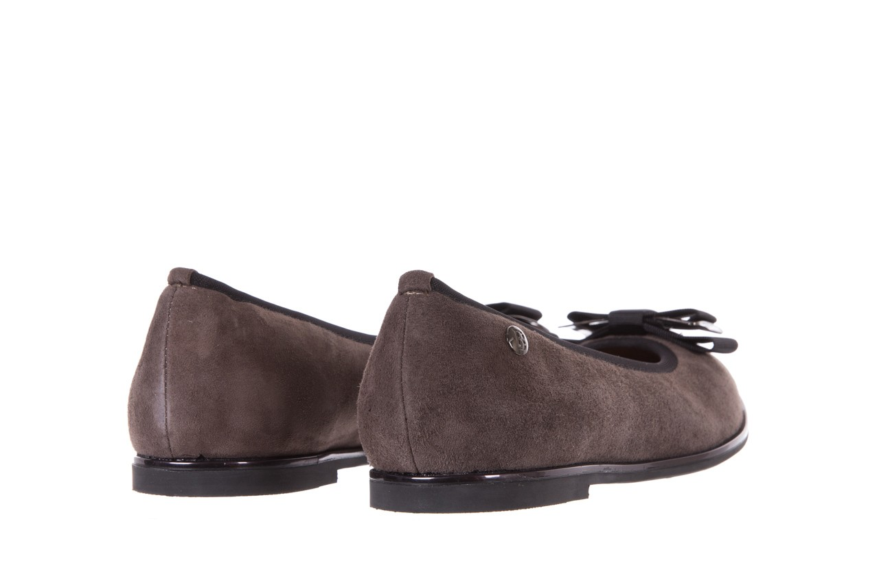Baleriny bayla-018 1063-303 taupe black, brąz/czarny, skóra naturalna - bayla - nasze marki 9
