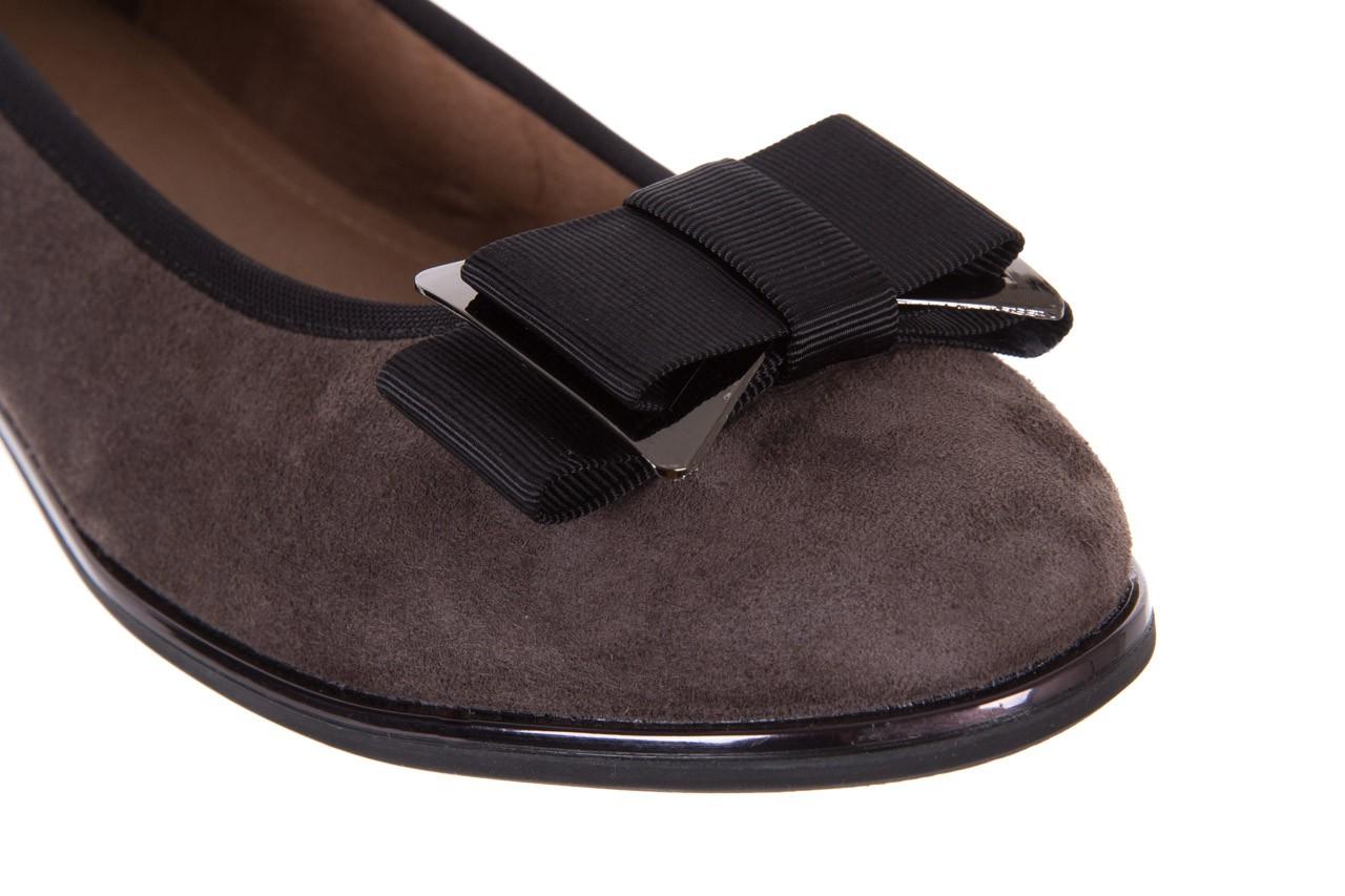 Baleriny bayla-018 1063-303 taupe black, brąz/czarny, skóra naturalna - bayla - nasze marki 11