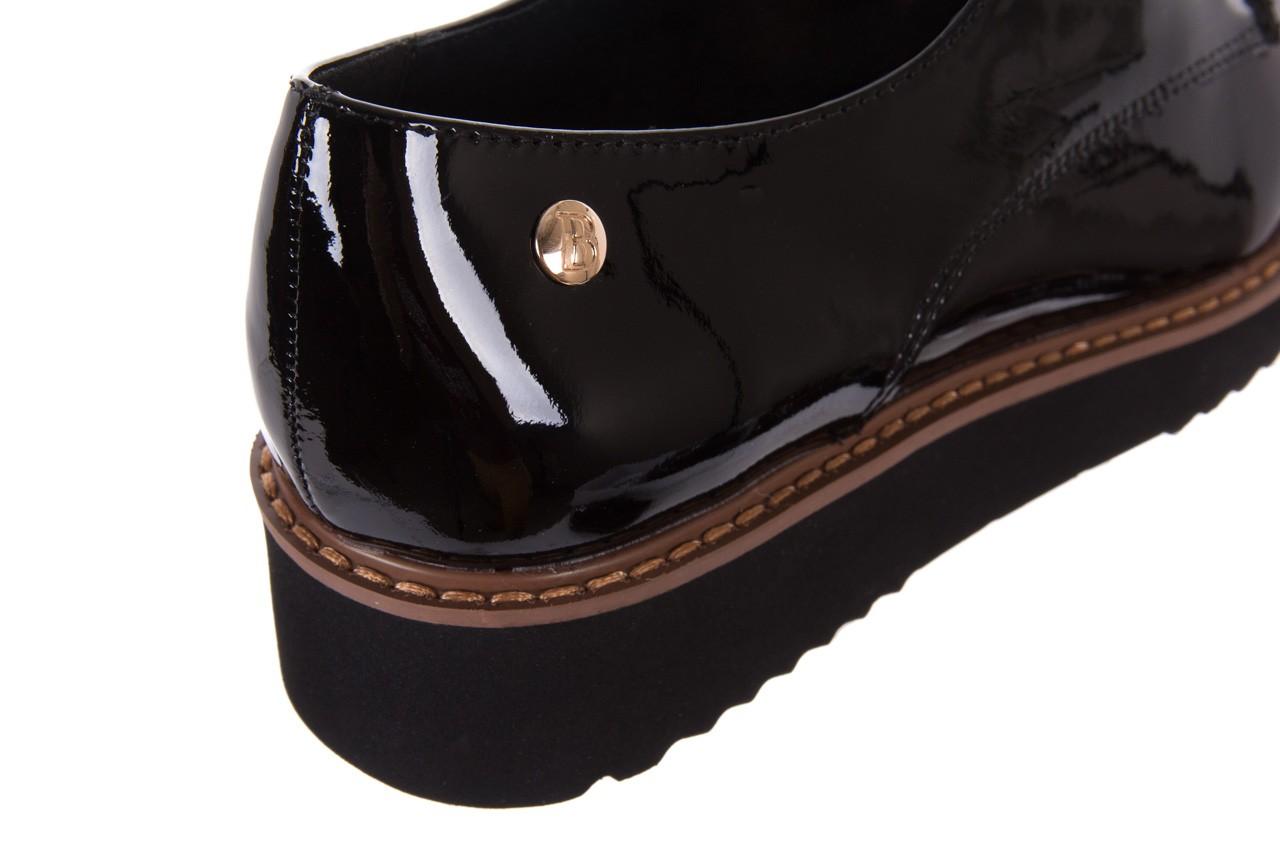 Półbuty bayla-018 1133-x57 burgundy black, bordo/czarny, skóra naturalna lakierowana  - bayla - nasze marki 13