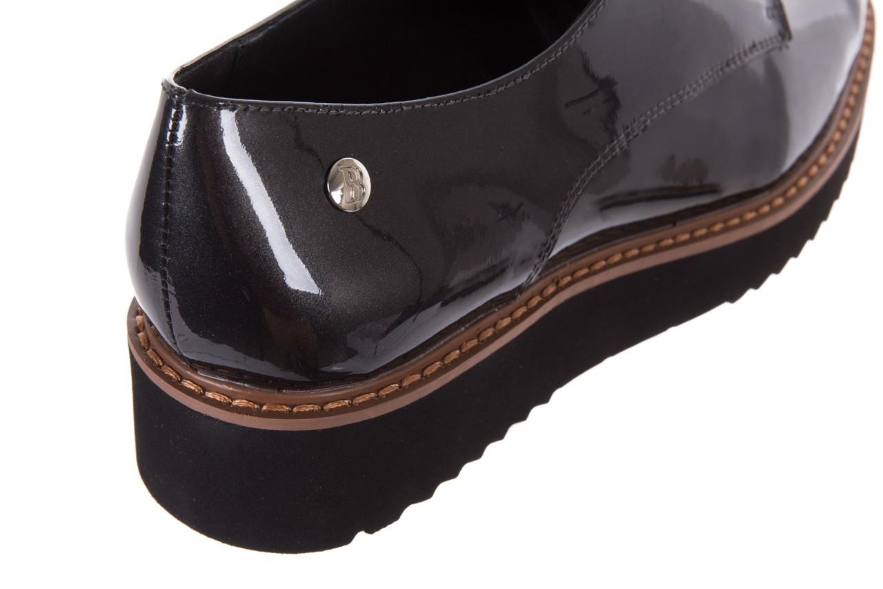 Półbuty bayla-018 1133-x57 grey black, szary/czarny, skóra naturalna lakierowana - bayla - nasze marki 12