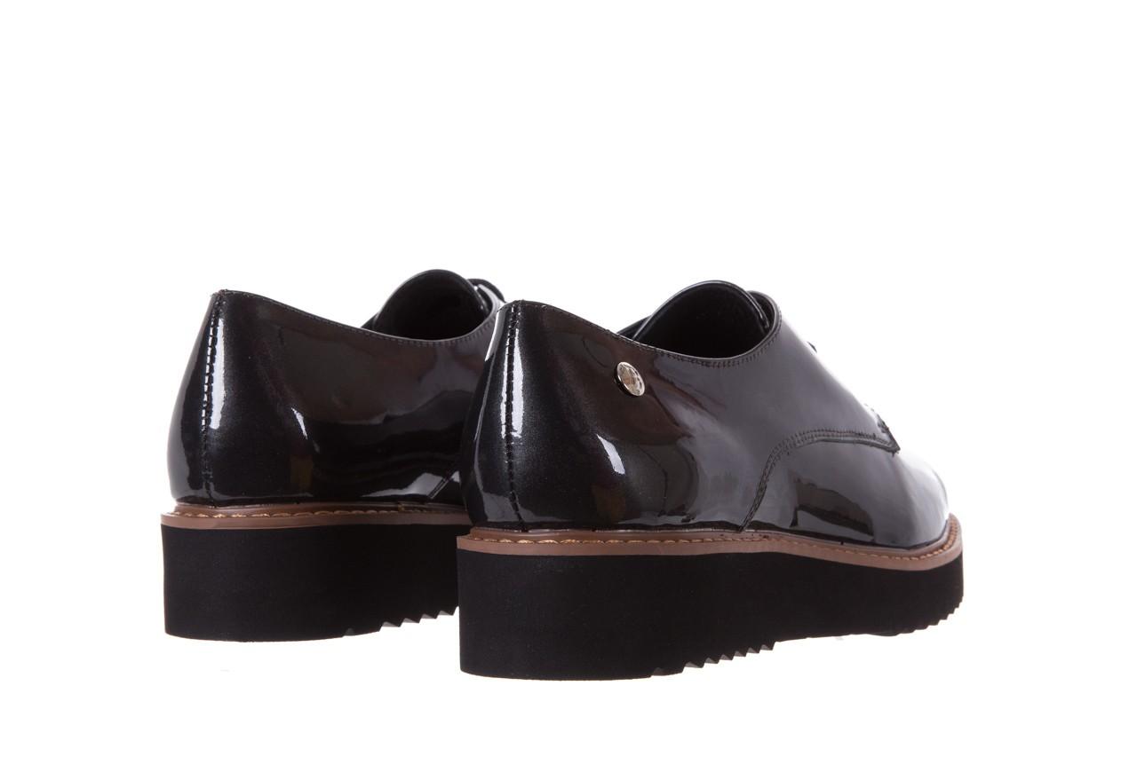 Półbuty bayla-018 1133-x57 grey black, szary/czarny, skóra naturalna lakierowana - bayla - nasze marki 10