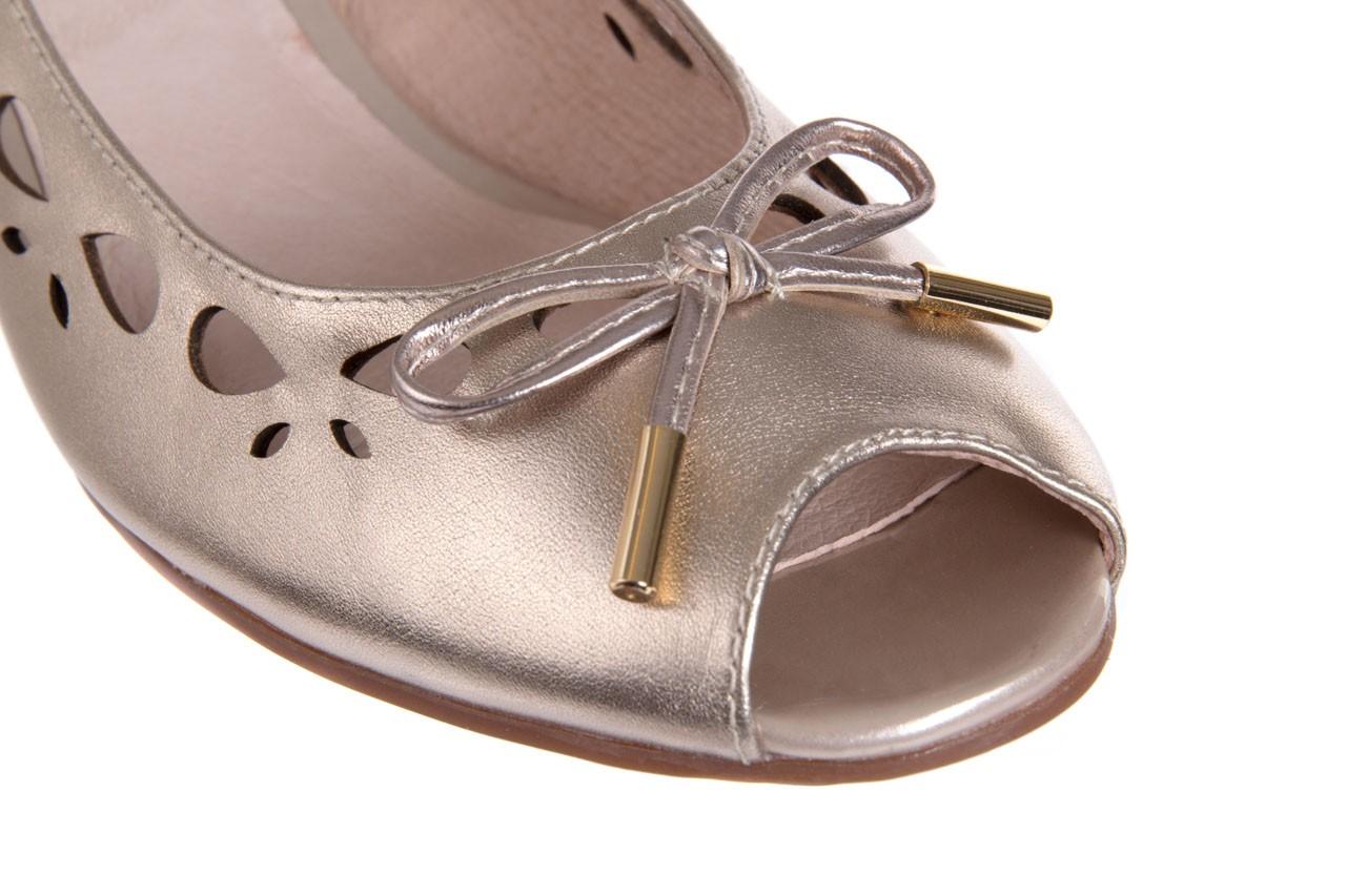 Czółenka bayla-018 1252-x3 champagne, beż, skóra naturalna - na koturnie - czółenka - buty damskie - kobieta 11