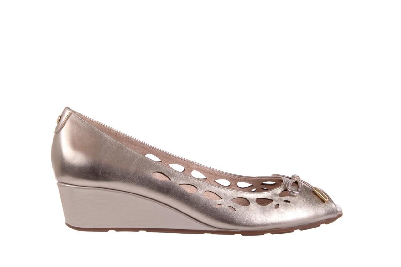 Czółenka bayla-018 1252-x3 champagne, beż, skóra naturalna - na koturnie - czółenka - buty damskie - kobieta 6
