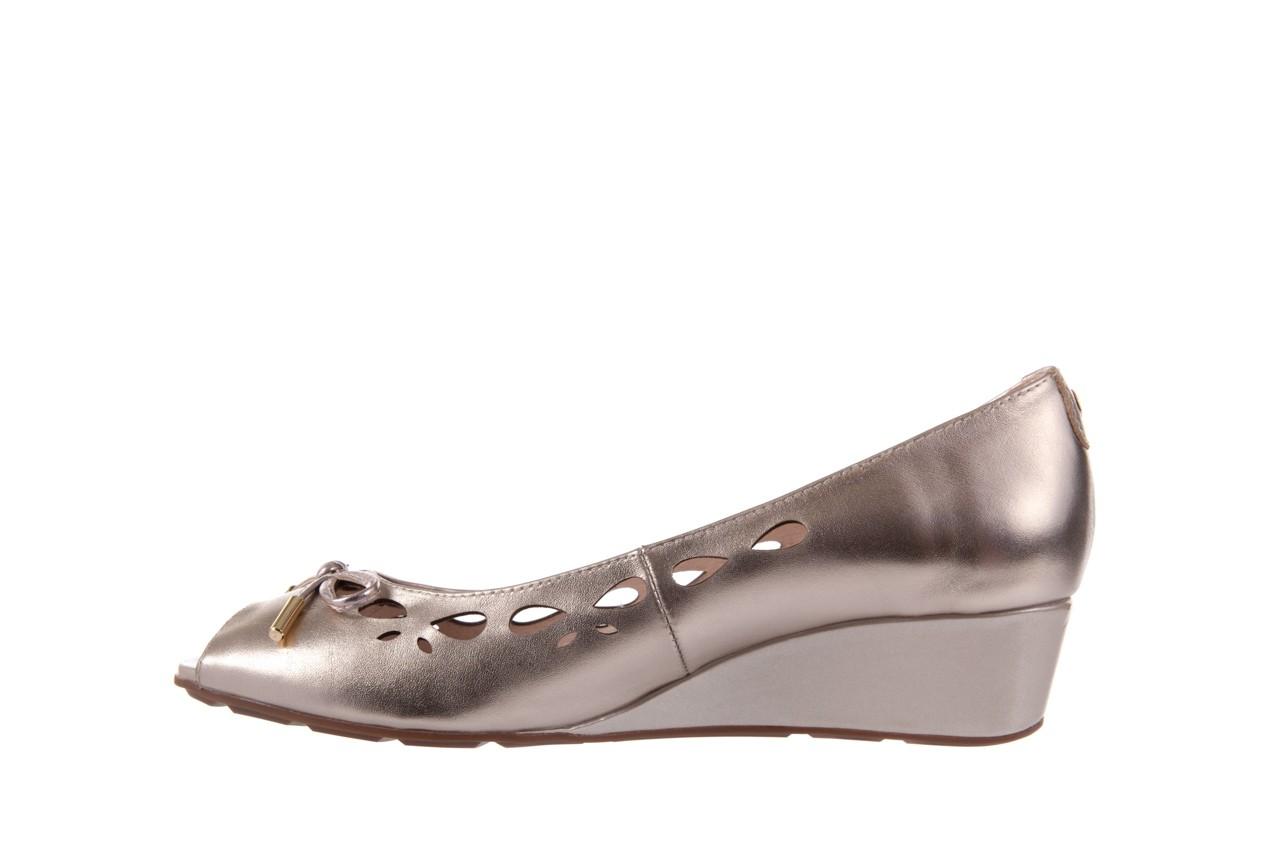 Czółenka bayla-018 1252-x3 champagne, beż, skóra naturalna - na koturnie - czółenka - buty damskie - kobieta 8