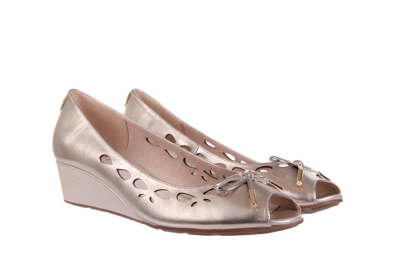 Czółenka bayla-018 1252-x3 champagne, beż, skóra naturalna - na koturnie - czółenka - buty damskie - kobieta 7