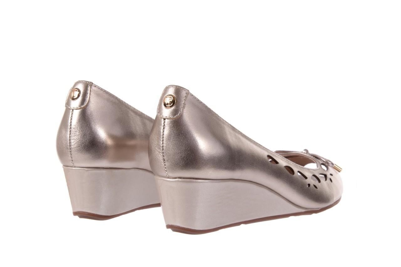 Czółenka bayla-018 1252-x3 champagne, beż, skóra naturalna - na koturnie - czółenka - buty damskie - kobieta 9