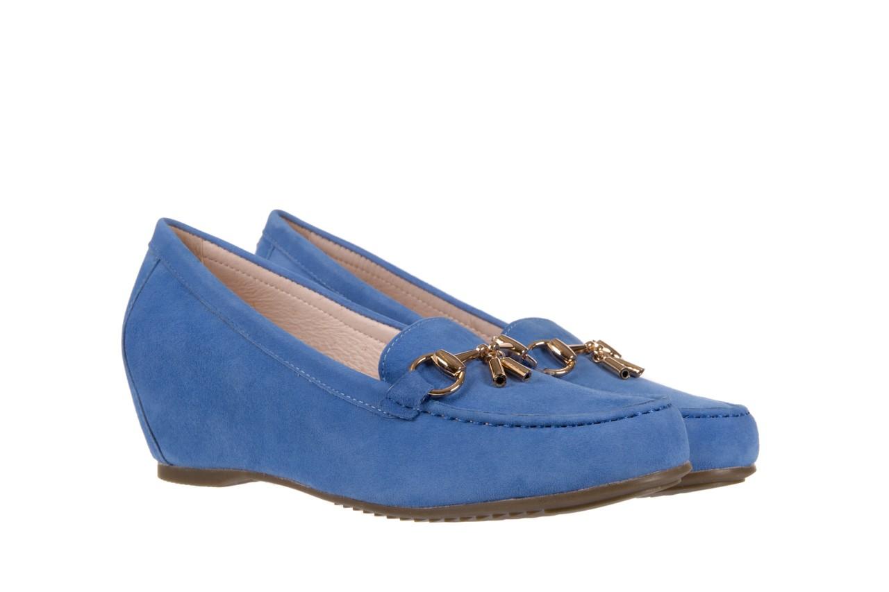 Mokasyny bayla-018 1647-12 royal blue, niebieski, skóra naturalna - bayla - nasze marki 7