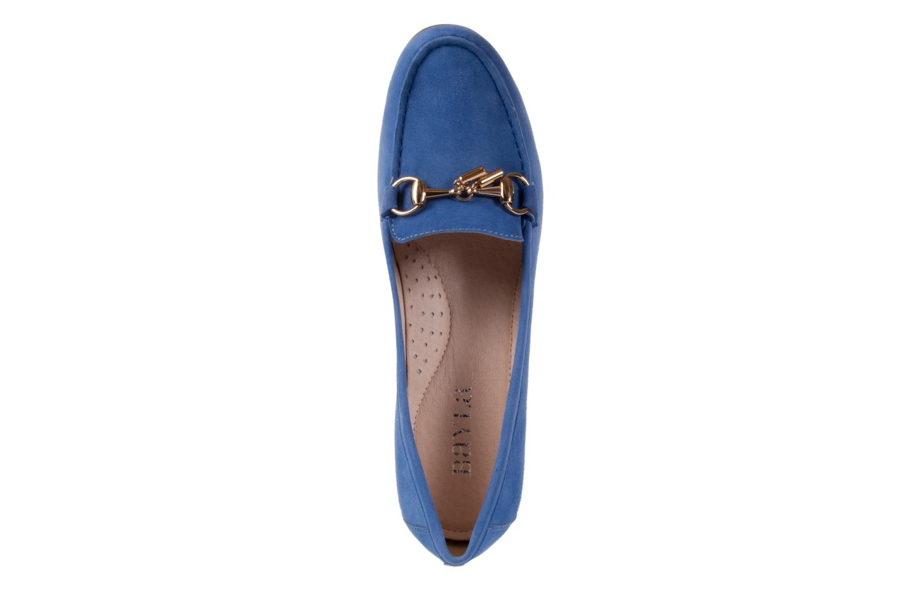 Mokasyny bayla-018 1647-12 royal blue, niebieski, skóra naturalna - bayla - nasze marki 10