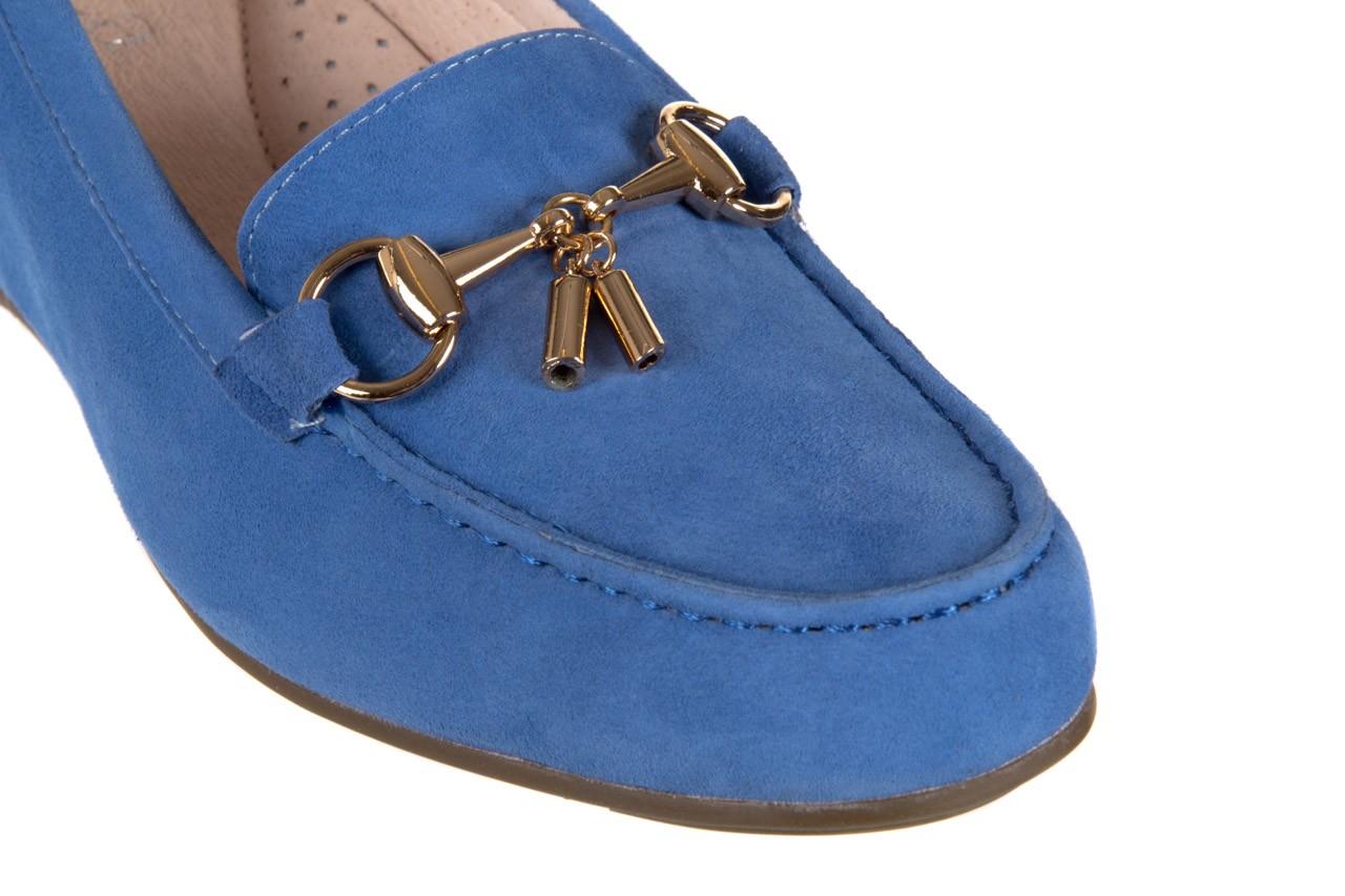 Mokasyny bayla-018 1647-12 royal blue, niebieski, skóra naturalna - bayla - nasze marki 11