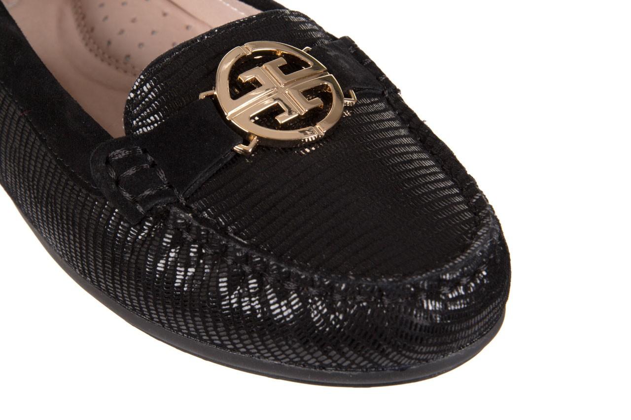 Mokasyny bayla-018 1677-5 black lizard black, czarny, skóra naturalna - bayla - nasze marki 12