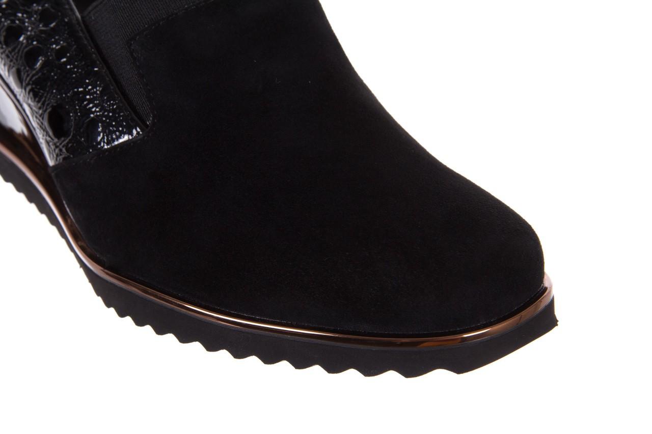 Półbuty bayla-018 1729-6 black, czarny, skóra naturalna lakierowana  - na koturnie - półbuty - buty damskie - kobieta 13
