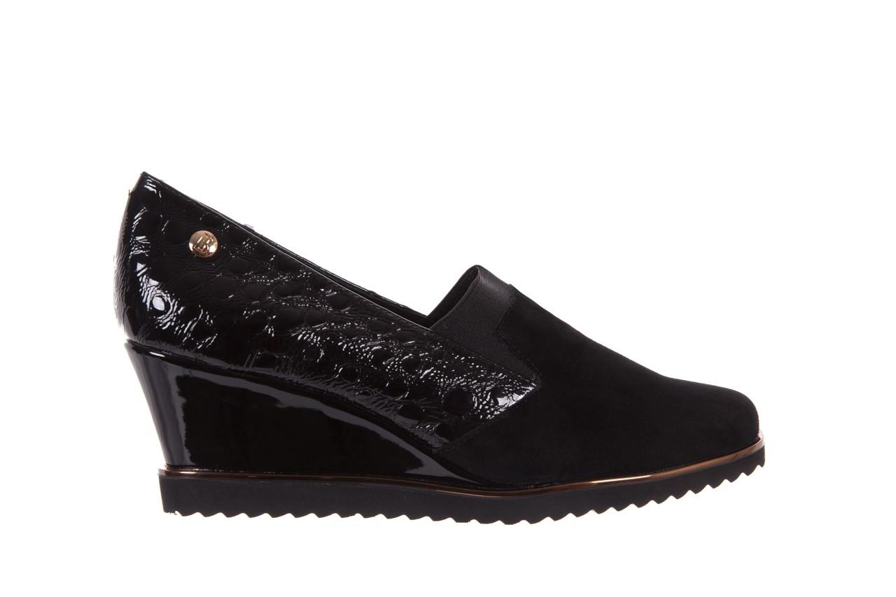 Półbuty bayla-018 1729-6 black, czarny, skóra naturalna lakierowana  - na koturnie - półbuty - buty damskie - kobieta 7