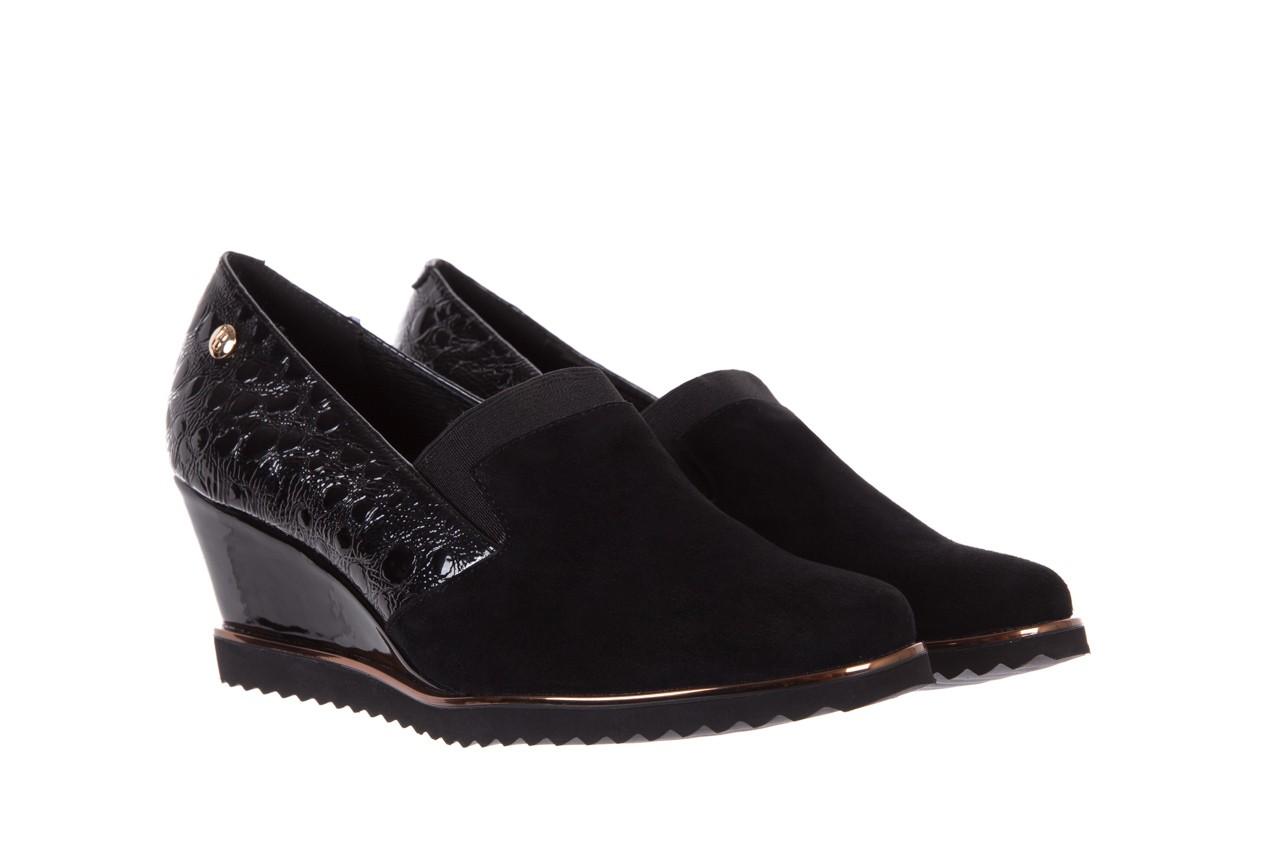 Półbuty bayla-018 1729-6 black, czarny, skóra naturalna lakierowana  - na koturnie - półbuty - buty damskie - kobieta 8
