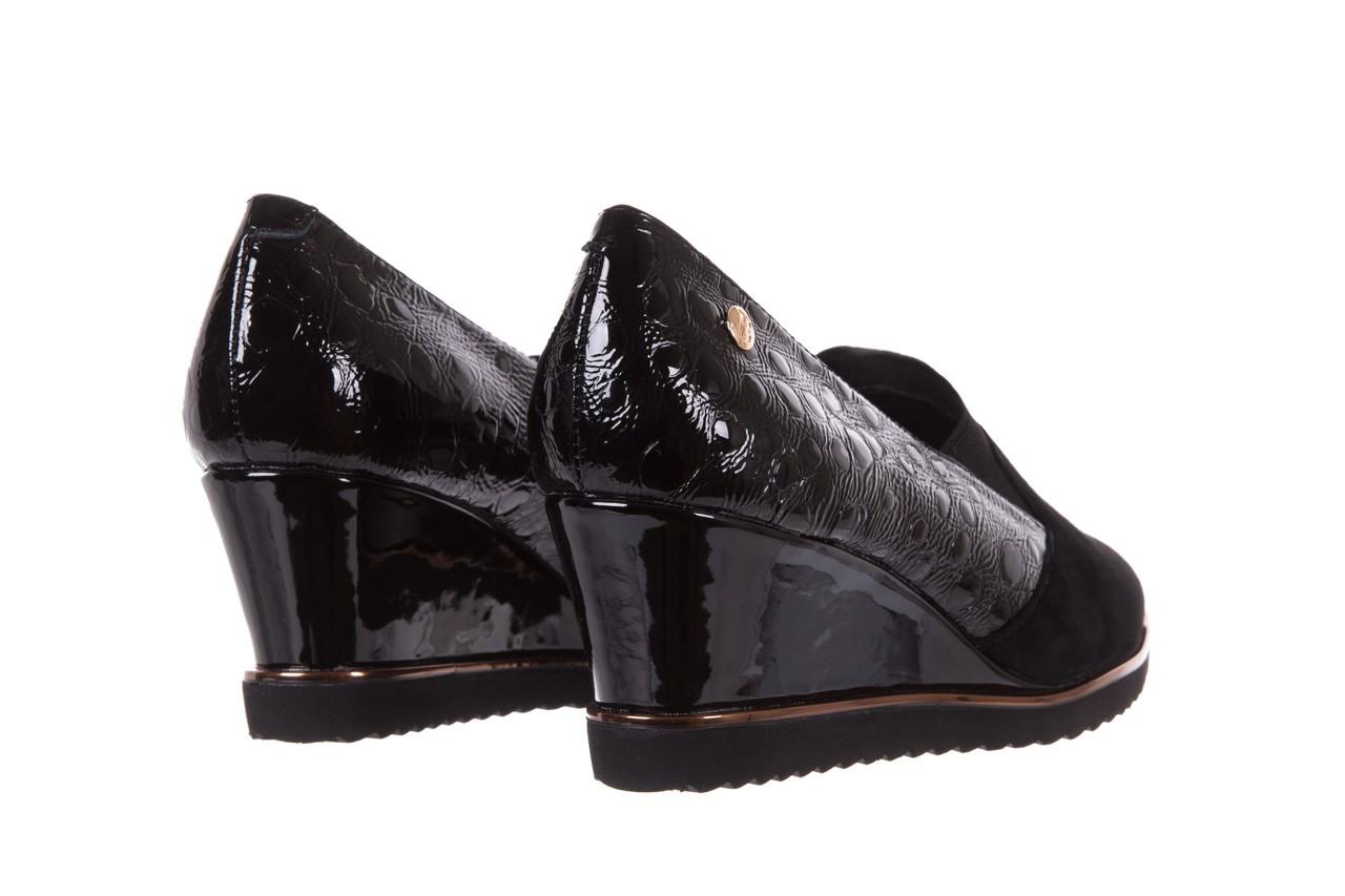 Półbuty bayla-018 1729-6 black, czarny, skóra naturalna lakierowana  - na koturnie - półbuty - buty damskie - kobieta 10
