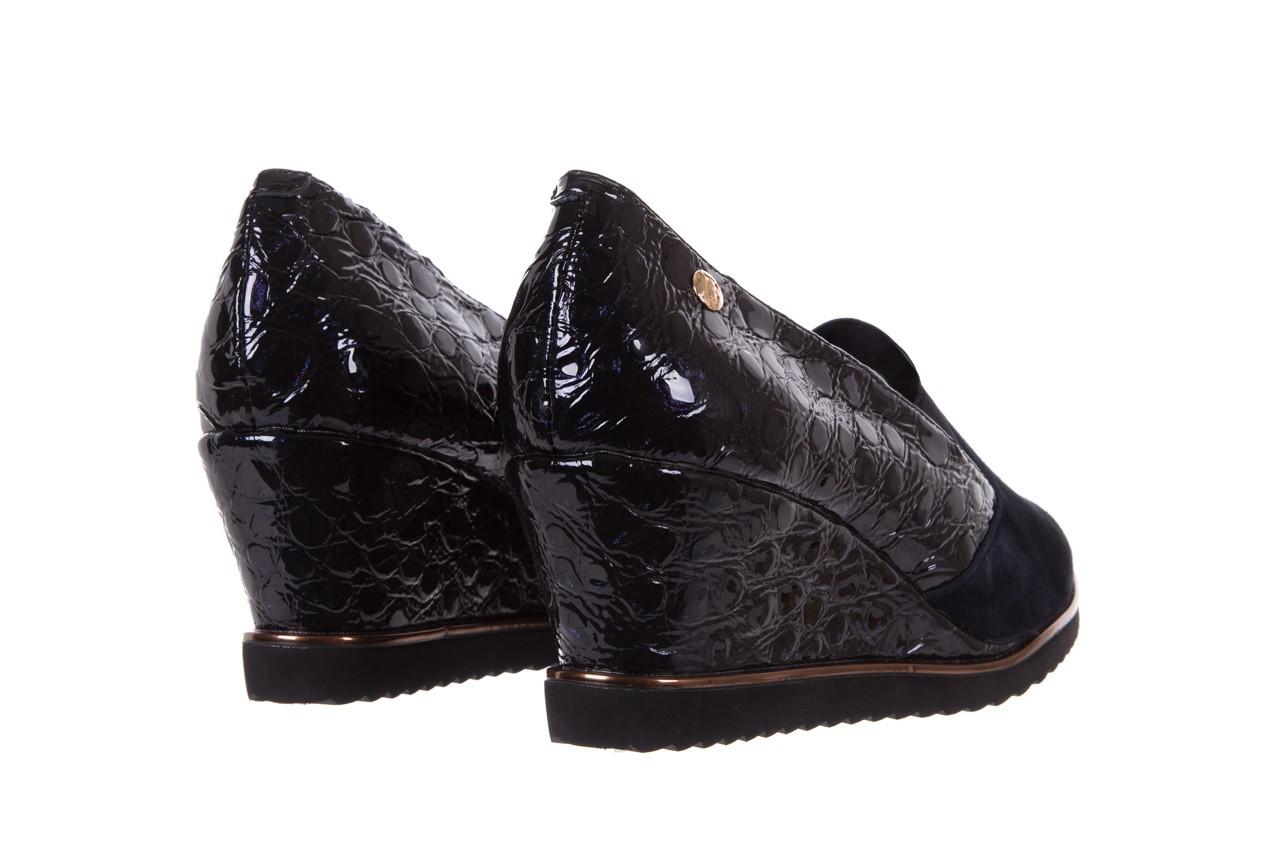 Półbuty bayla-018 1729-6 navy, granat, skóra naturalna lakierowana - na koturnie - półbuty - buty damskie - kobieta 10