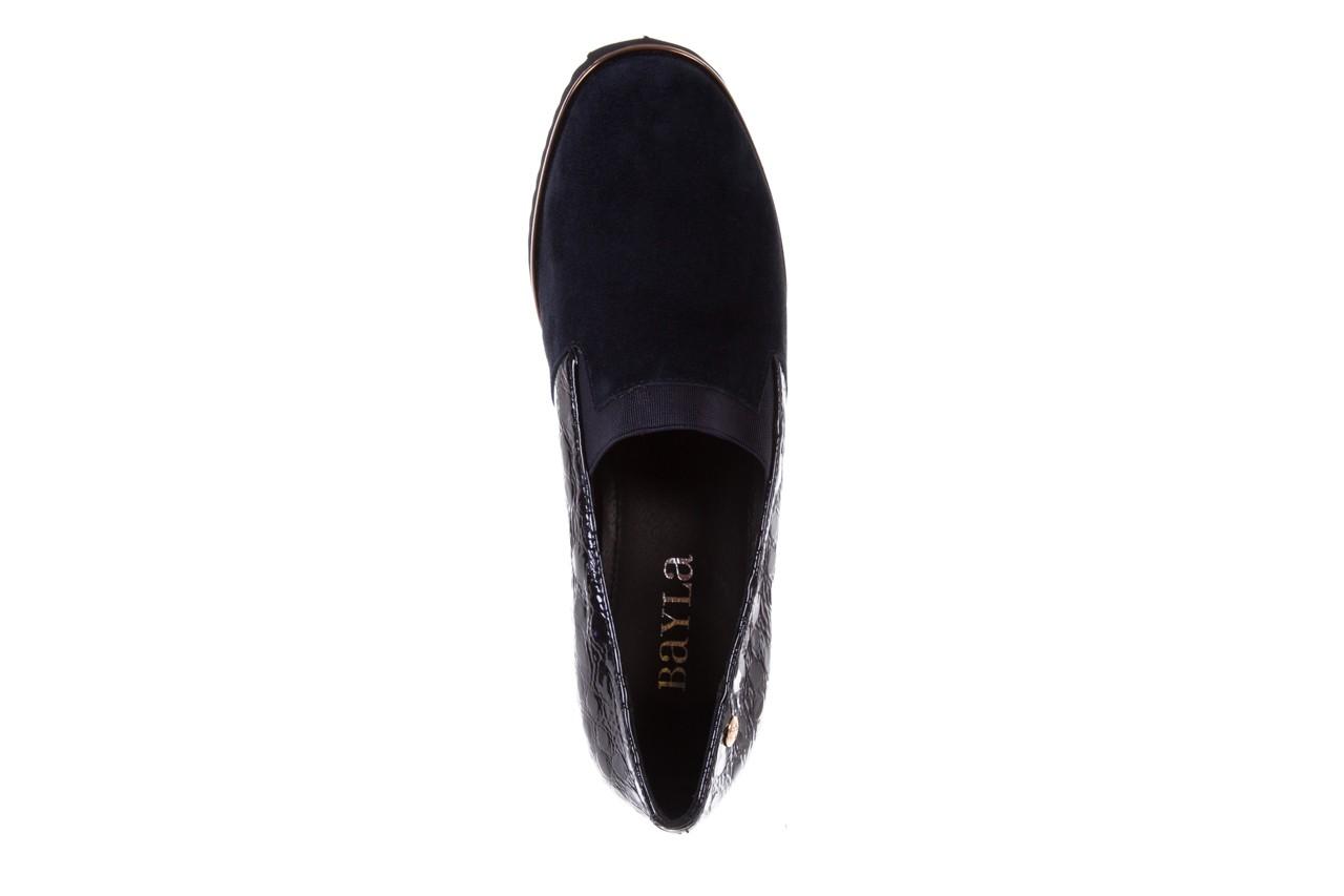 Półbuty bayla-018 1729-6 navy, granat, skóra naturalna lakierowana - na koturnie - półbuty - buty damskie - kobieta 11