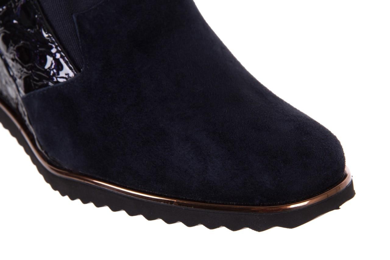 Półbuty bayla-018 1729-6 navy, granat, skóra naturalna lakierowana - na koturnie - półbuty - buty damskie - kobieta 12