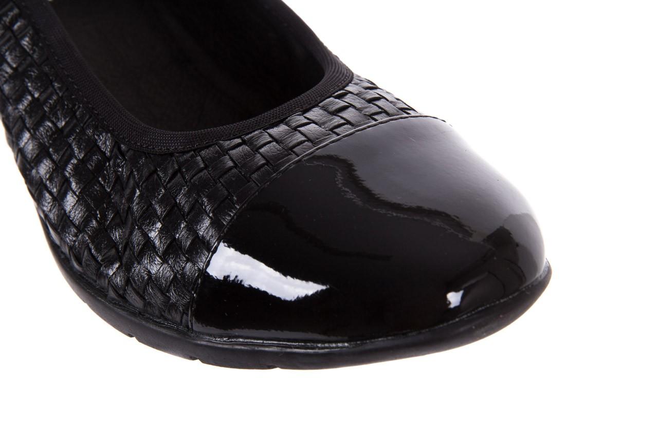 Baleriny bayla-018 1759-5 black, czarny, skóra naturalna - bayla - nasze marki 11