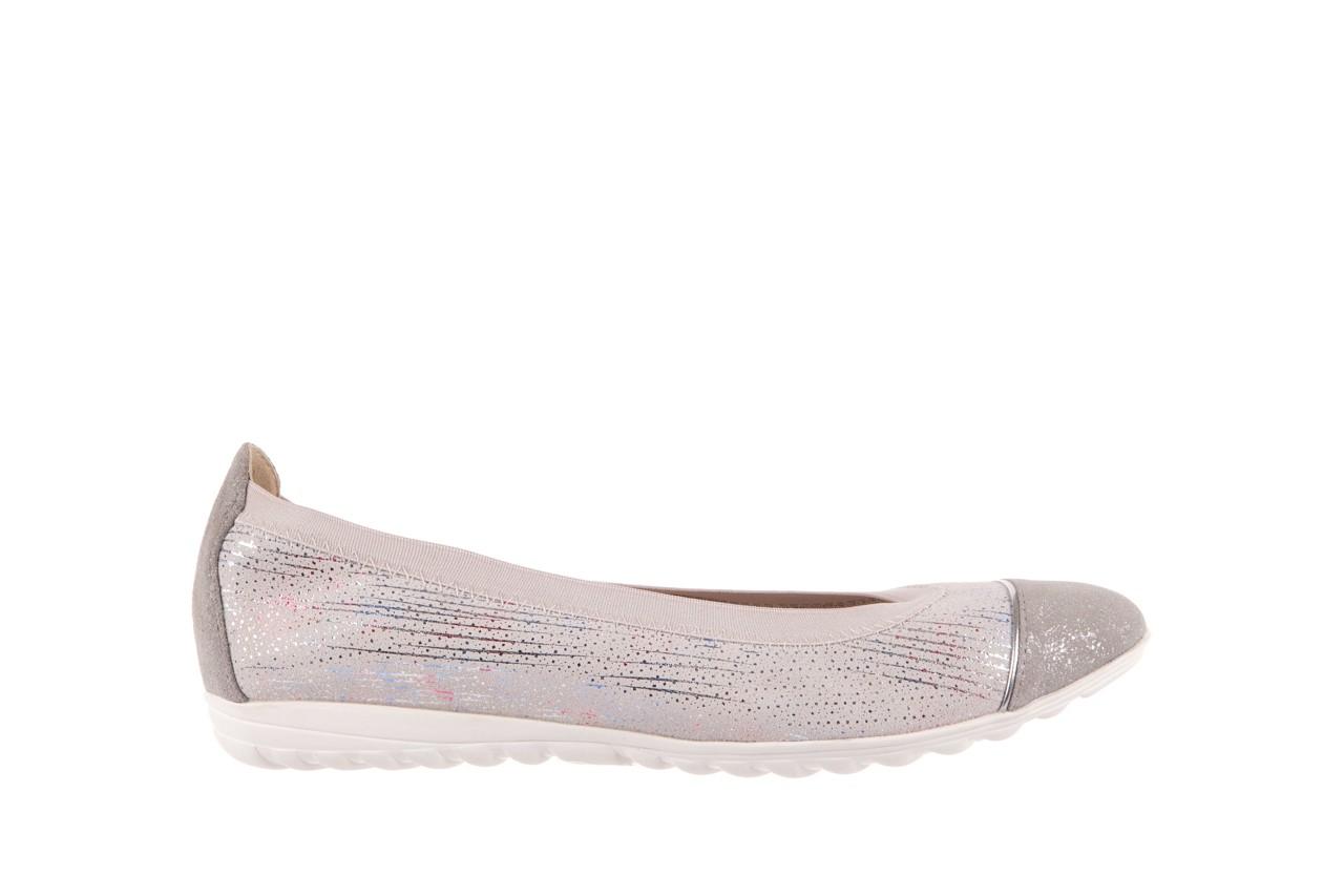 Baleriny bayla-018 1831-5 lt. grey off white silver 018534, biały/szary, skóra naturalna  - skórzane - baleriny - buty damskie - kobieta 6