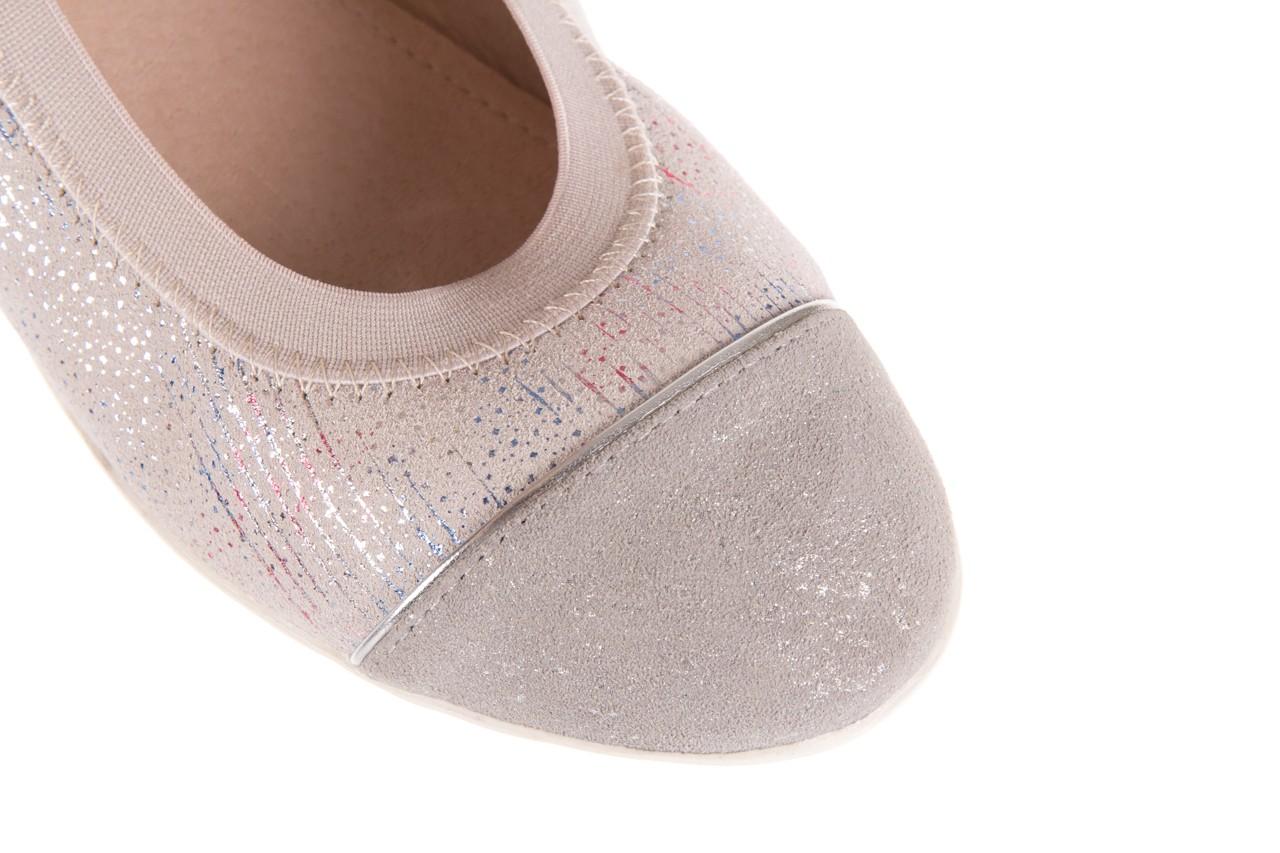 Baleriny bayla-018 1831-5 lt. grey off white silver 018534, biały/szary, skóra naturalna  - skórzane - baleriny - buty damskie - kobieta 11