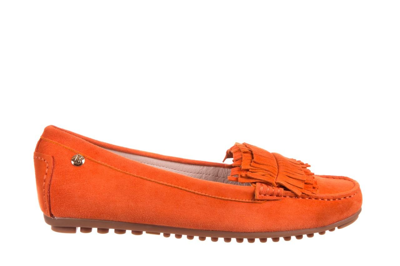 Mokasyny bayla-018 3173-331 orange 018539, pomarańczowy, skóra naturalna  - mokasyny i lordsy - półbuty - buty damskie - kobieta 5