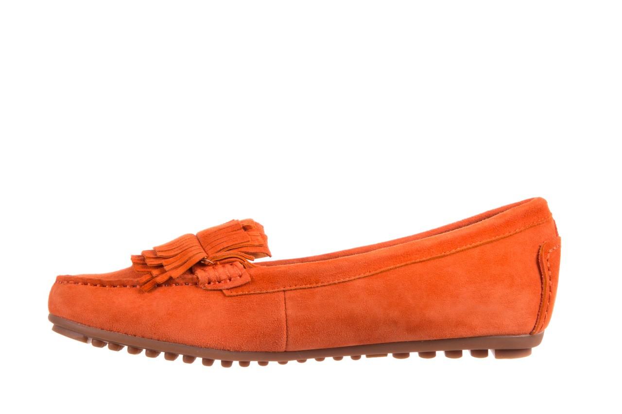 Mokasyny bayla-018 3173-331 orange 018539, pomarańczowy, skóra naturalna  - mokasyny i lordsy - półbuty - buty damskie - kobieta 7