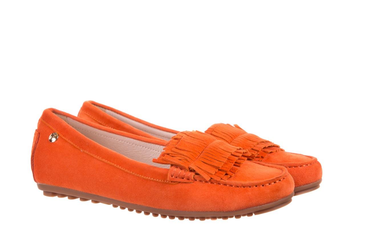 Mokasyny bayla-018 3173-331 orange 018539, pomarańczowy, skóra naturalna  - mokasyny i lordsy - półbuty - buty damskie - kobieta 6