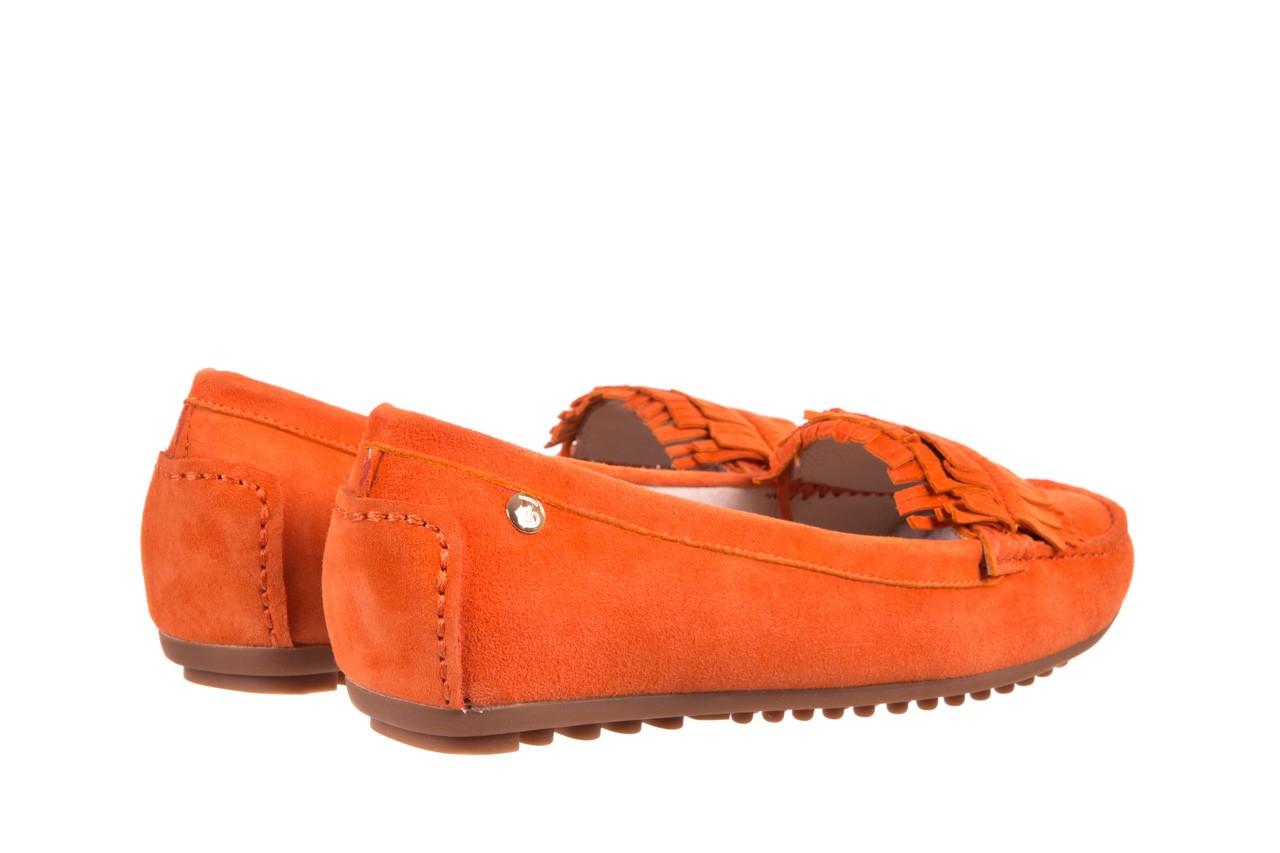 Mokasyny bayla-018 3173-331 orange 018539, pomarańczowy, skóra naturalna  - mokasyny i lordsy - półbuty - buty damskie - kobieta 8