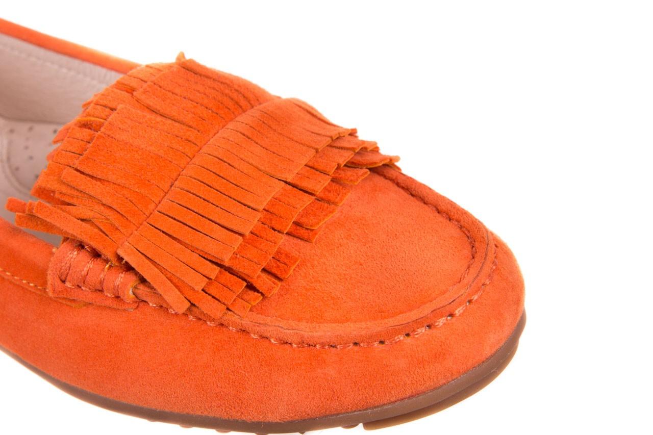 Mokasyny bayla-018 3173-331 orange 018539, pomarańczowy, skóra naturalna  - bayla - nasze marki 9