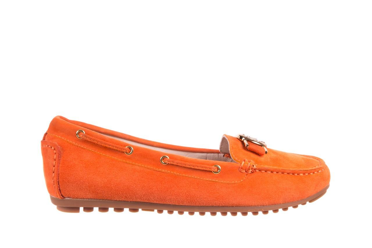 Mokasyny bayla-018 3173-335 orange 018544, pomarańczowy, skóra naturalna 5