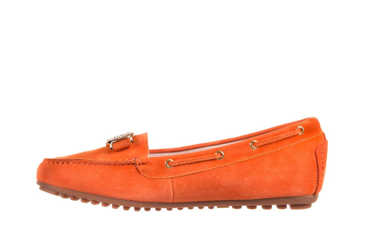 Mokasyny bayla-018 3173-335 orange 018544, pomarańczowy, skóra naturalna 8
