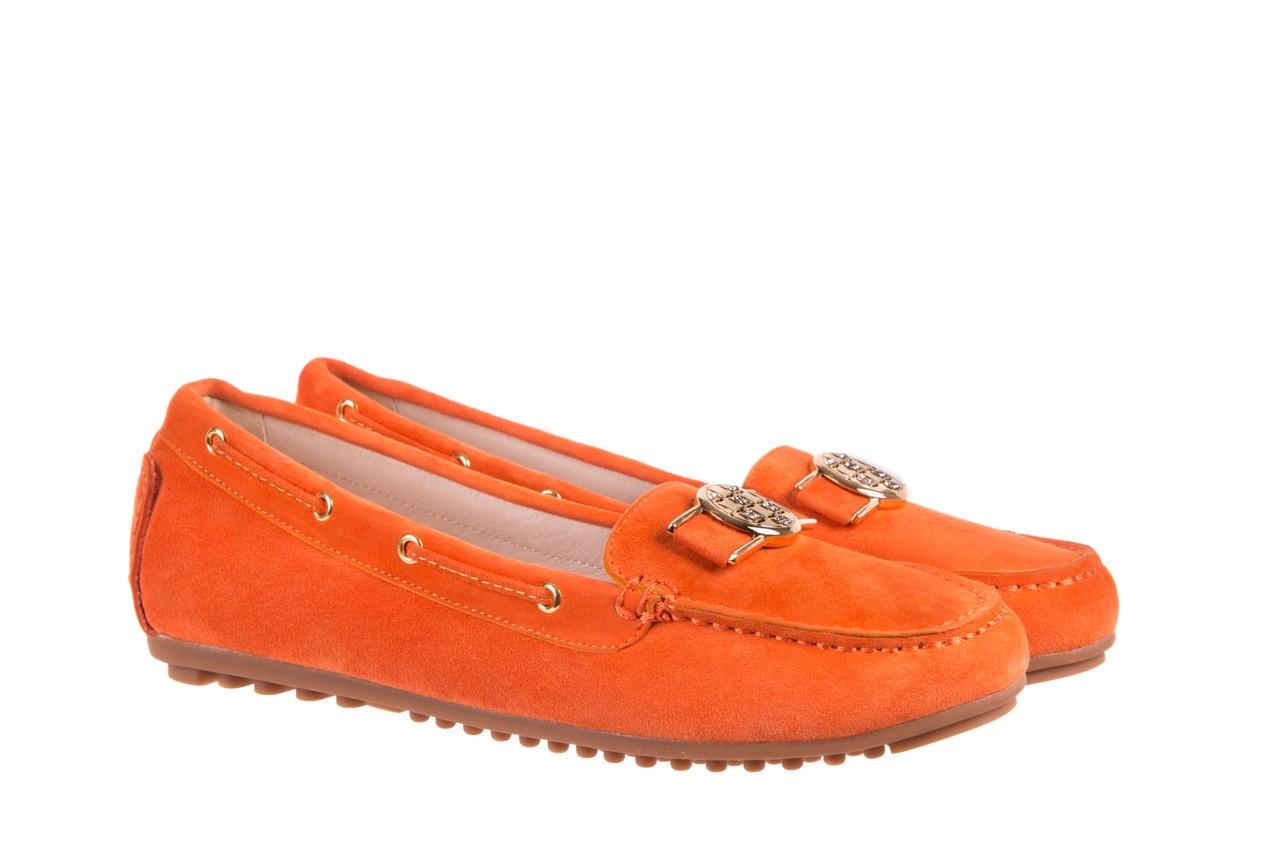 Mokasyny bayla-018 3173-335 orange 018544, pomarańczowy, skóra naturalna 6