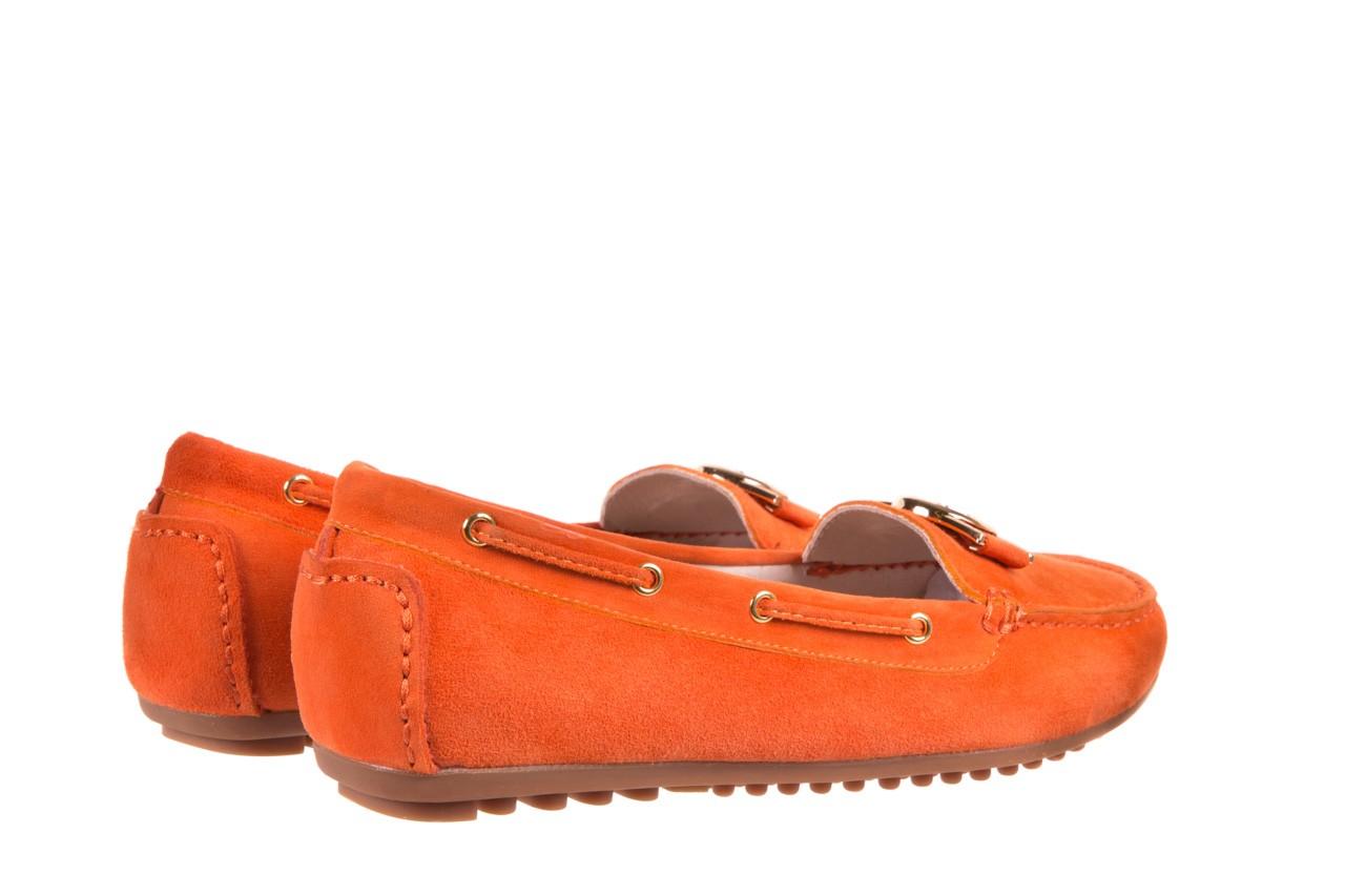 Mokasyny bayla-018 3173-335 orange 018544, pomarańczowy, skóra naturalna 7