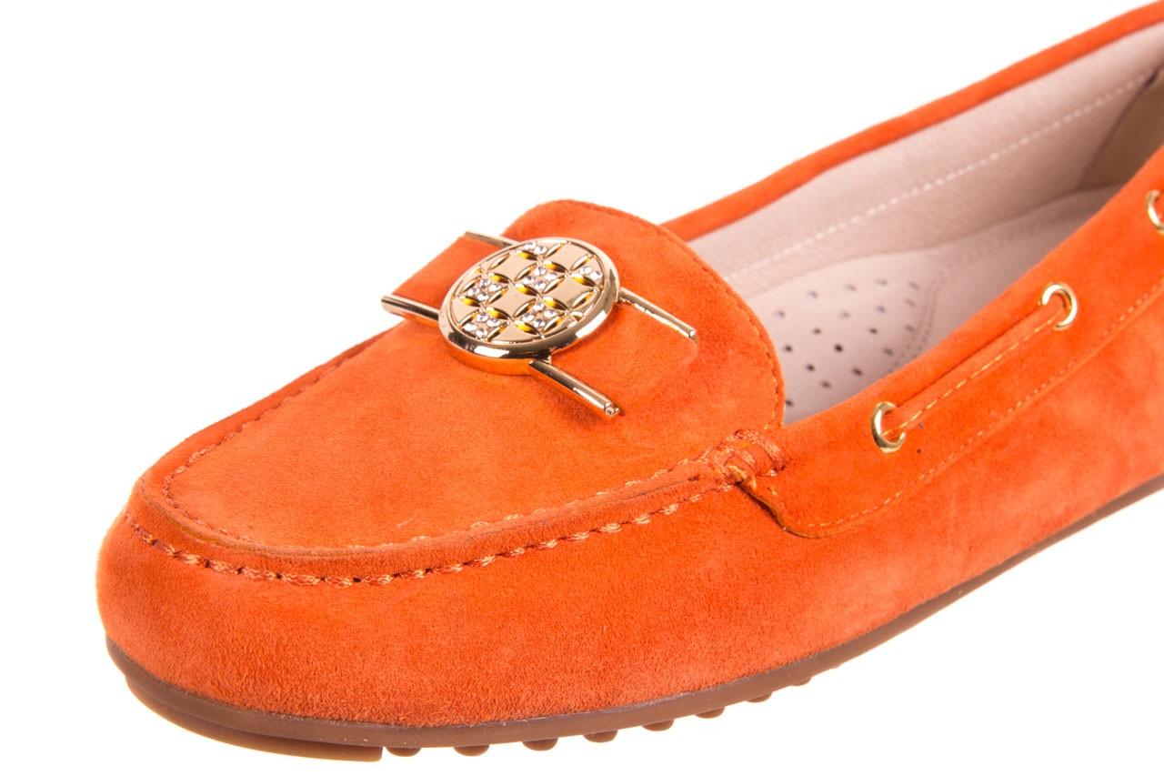 Mokasyny bayla-018 3173-335 orange 018544, pomarańczowy, skóra naturalna 9