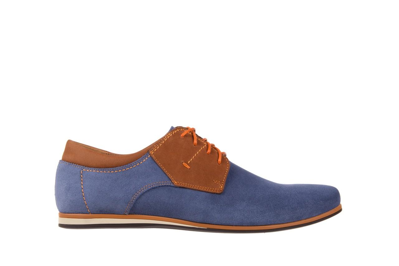 Półbuty bayla-051 206 ming samuel buk, niebieski/ brąz, skóra naturalna  - bayla - nasze marki 6