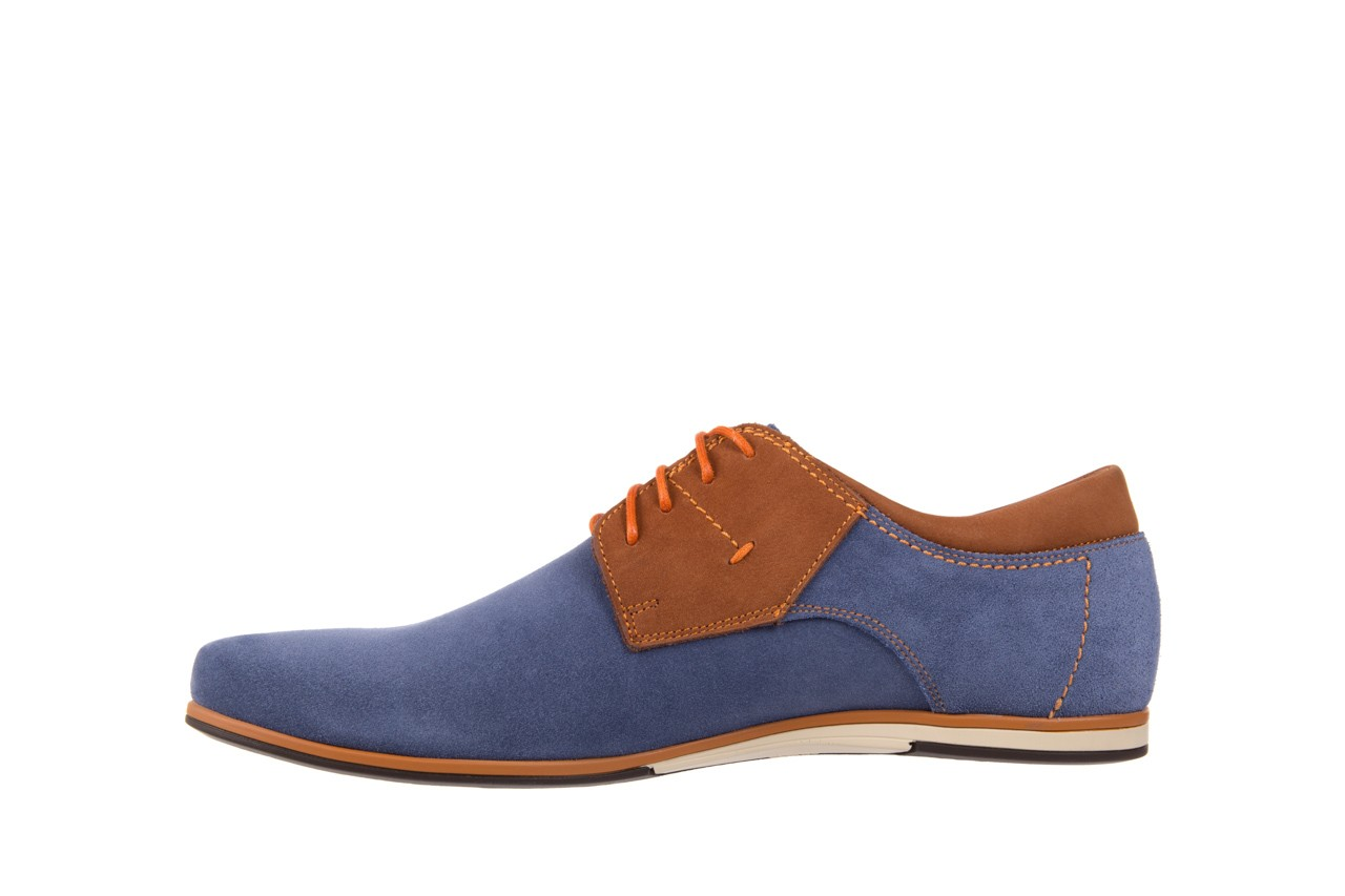 Półbuty bayla-051 206 ming samuel buk, niebieski/ brąz, skóra naturalna  - bayla - nasze marki 8