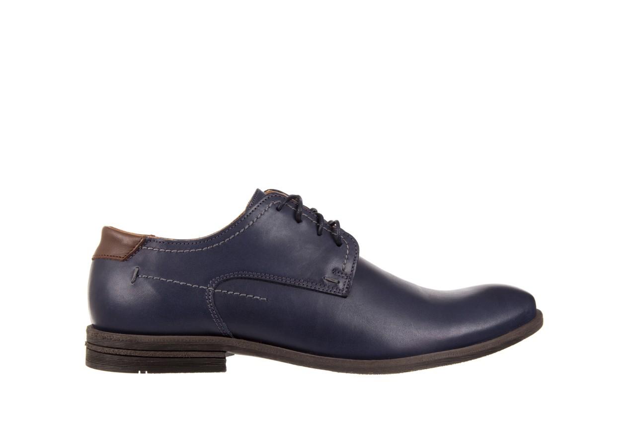 Półbuty bayla-051 216 bufallo niebieski-czekolada, granat, skóra naturalna  - obuwie wizytowe - buty męskie - mężczyzna 6