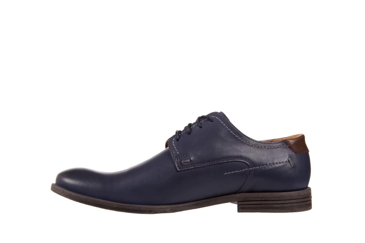 Półbuty bayla-051 216 bufallo niebieski-czekolada, granat, skóra naturalna  - obuwie wizytowe - buty męskie - mężczyzna 8